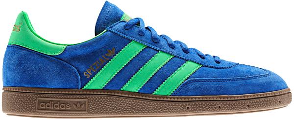 Adidas Handball Spezial - blå med grønne striber
